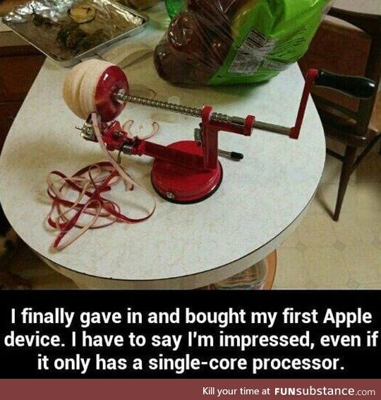 His first apple product