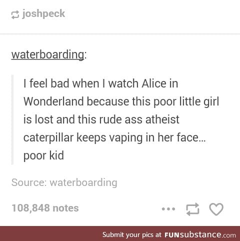 "The ""rude ass atheist caterpillar"" is my spirit animal..minus the vaping xD"