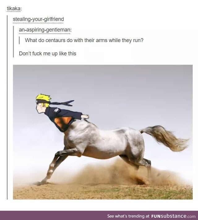 I guess that'd make it easier for Sasuke to ride him