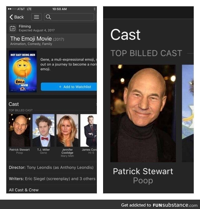 Patrick Stewart's career is just going downhill