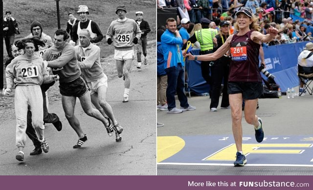 Woman Attacked for Running the Boston Marathon in 1967 Ran It Again, 50 Years Later