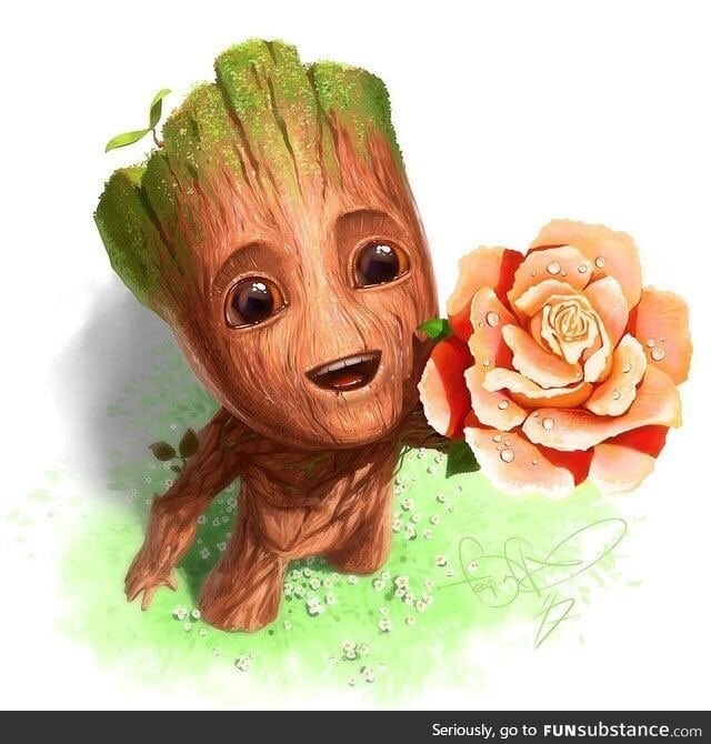 Baby Groot wishes you a great day :)