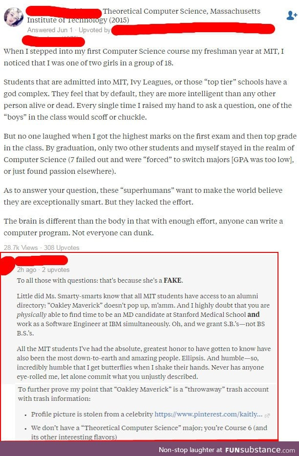 Fake Quora user pretends to be an MIT alum