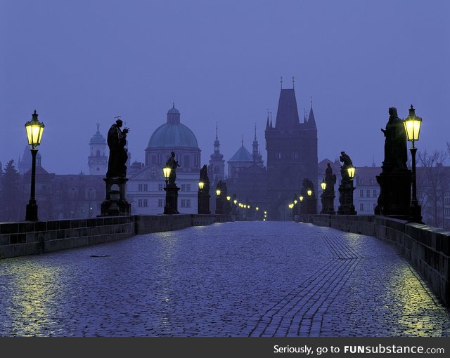Real Life Fairytale Place 8: Charles Bridge in Prague, Czech Republic