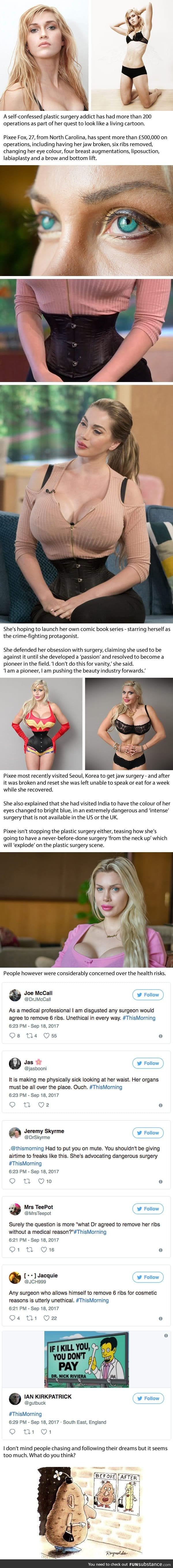 Woman Removes Six Ribs To Look Like Wonder Woman