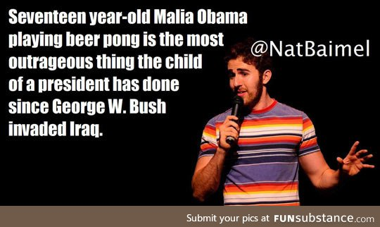 Malia obama caught playing beer pong