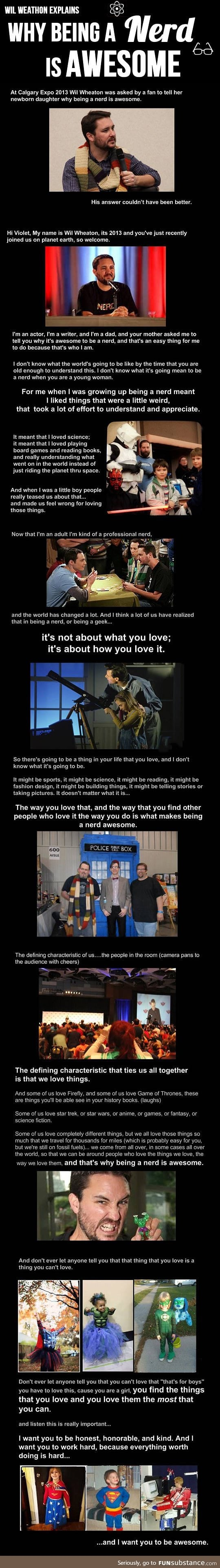 Why being a nerd is awesome