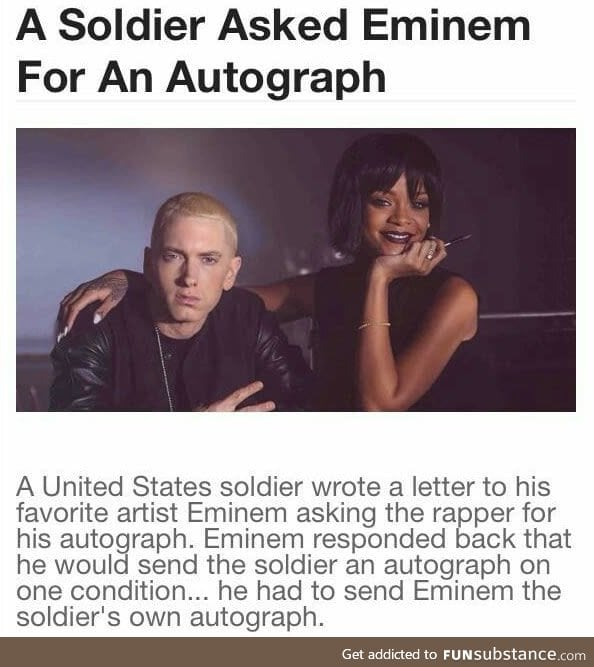 Why is it so difficult to get an autograph from Eminem