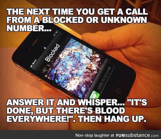 Next time you get one of these calls