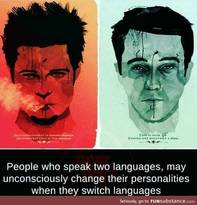 Different language, different personality