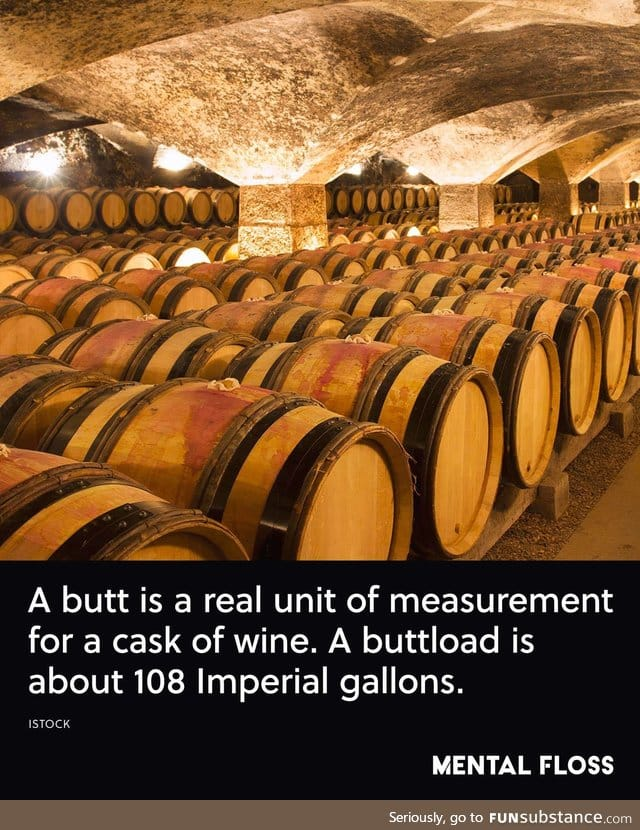 TIL how much a buttload of wine actually is