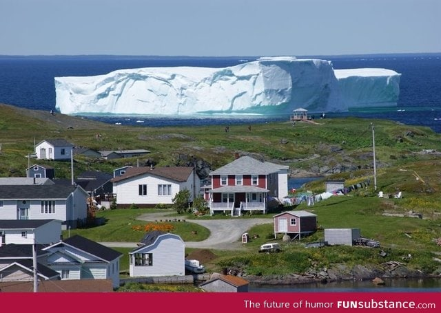 An iceberg just floated into town