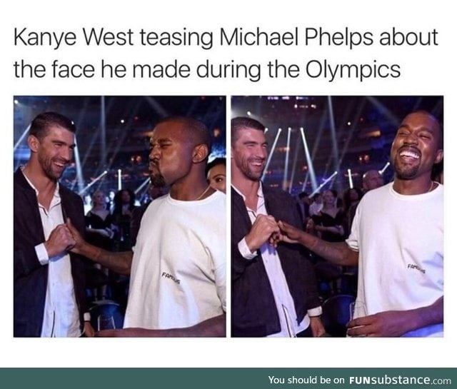 Kanye West is laughing