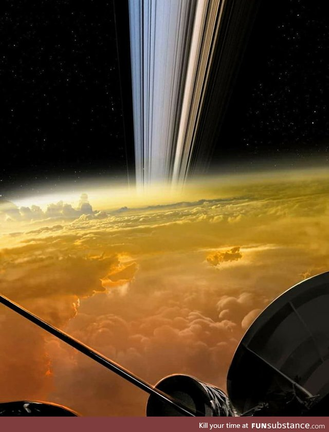 The Cassini spacecraft, delivering the closest images of Saturn in history