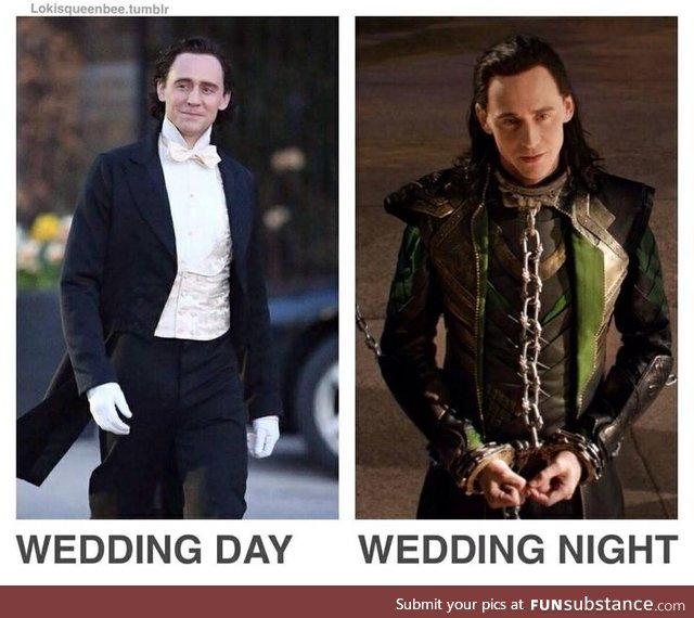 Tom in the streets. Loki in the sheets