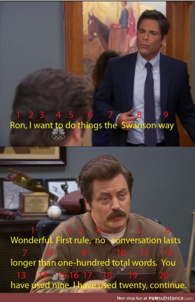 Ron Swanson is impeccable