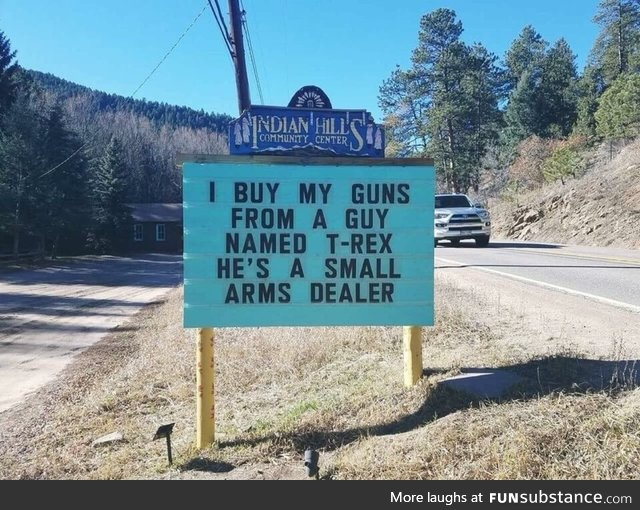 Small arms dealer