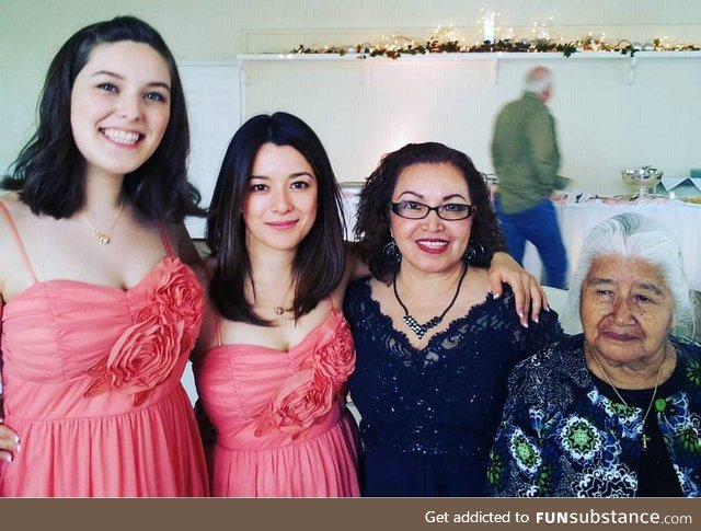 Four Generations, (L to R) 21, 40, 65, 95