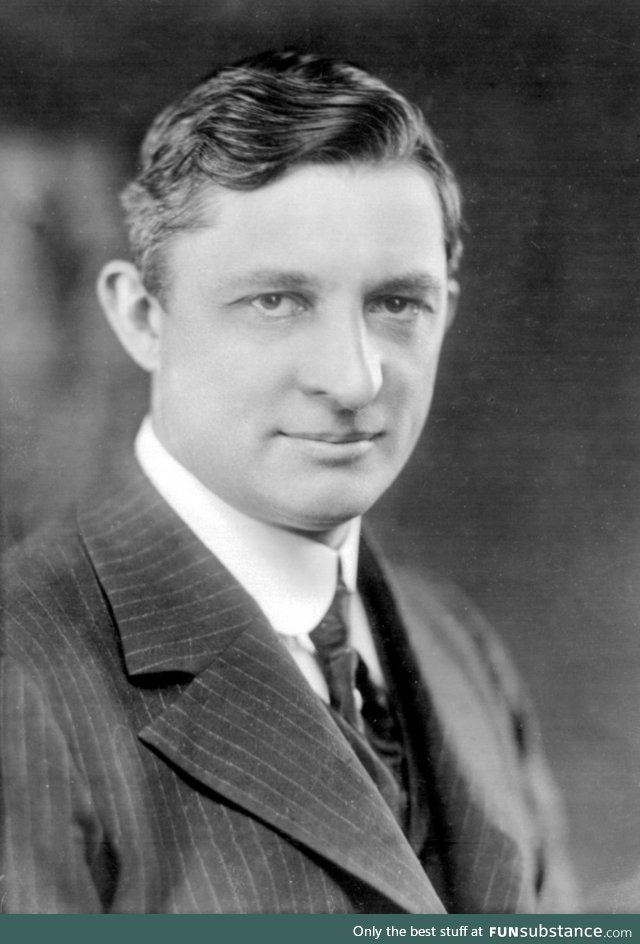 This is Willis Carrier, the inventor of air conditioning. KNEEL BEFORE YOUR GOD