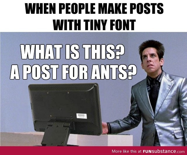 What is this? A post for ants?