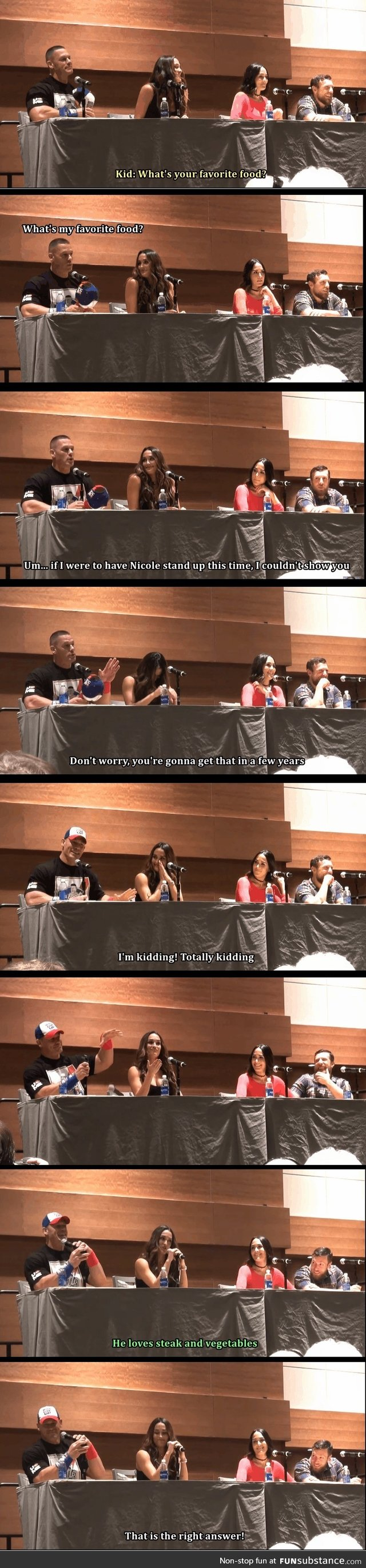 John Cena answers kid's question