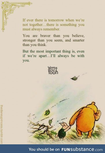 Always Remember you are stronger than you realize (Winnie the Pooh)