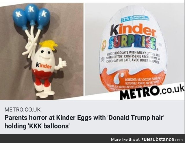 Orange man found in kinder egg