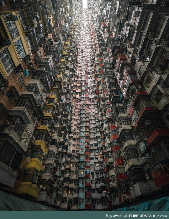 Hong Kong has some places beyond reasonable density