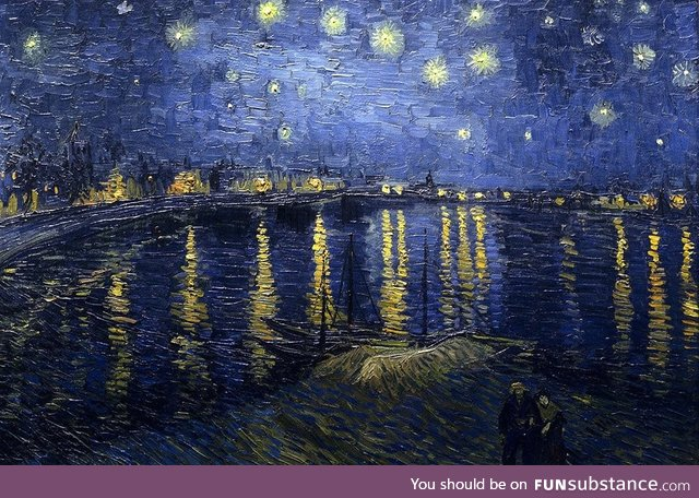 Van Gogh's lesser known Starry Night Over the Rhone