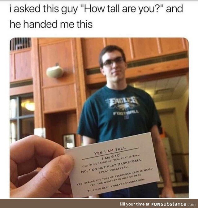 How tall are you guys ?