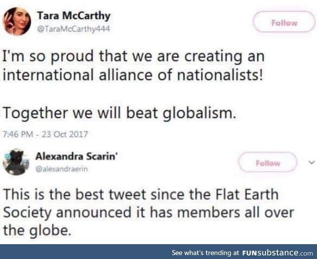 Together we will beat globalism