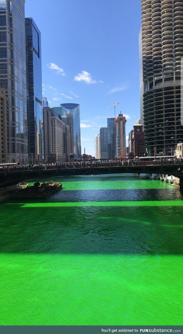Just a normal day on the Chicago River