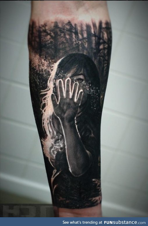 Backlit tattoo by Iwan Yug