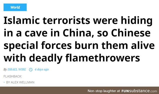 Islamic terrorists barbecued by Chinese special forces
