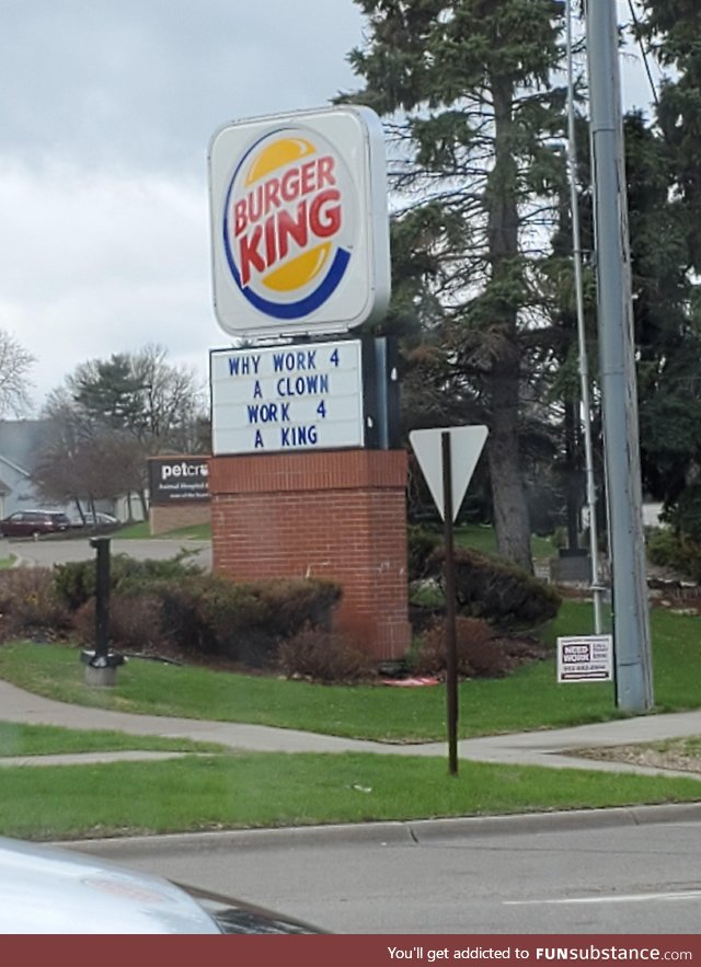 Burger Kings new slogan