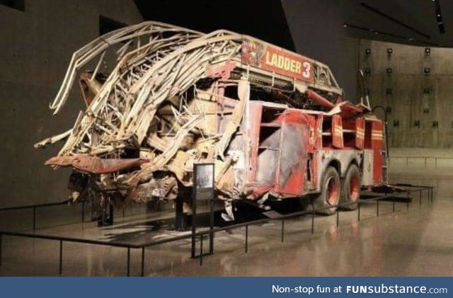 One of the first Firetrucks that showed up at the World Trade Center