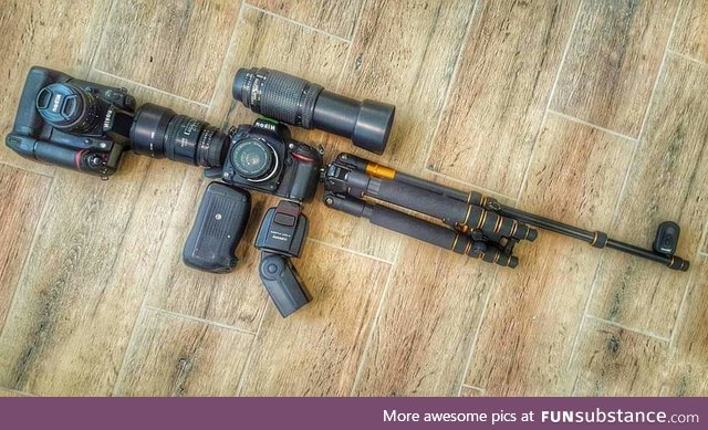 A photographer's weapon