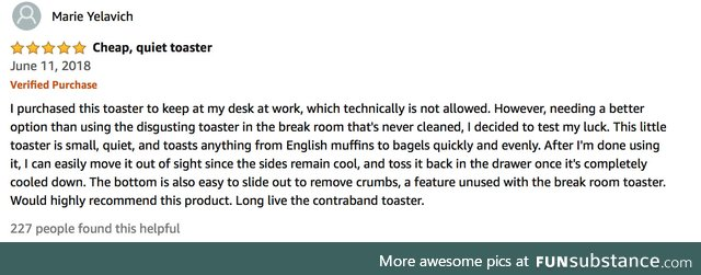 Long live the contraband toaster
