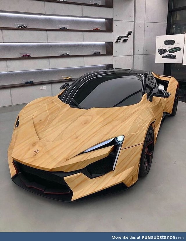 This is beautiful wooden luxury car