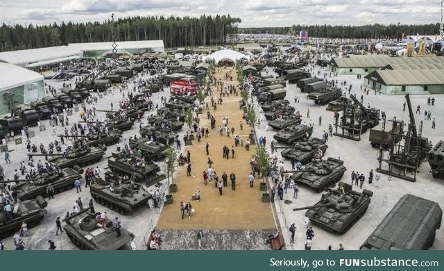 Russia opened a 'Military Disneyland' called Patriot Park, where visitors, including