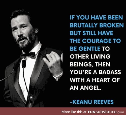 Keanu is an icon for humanity