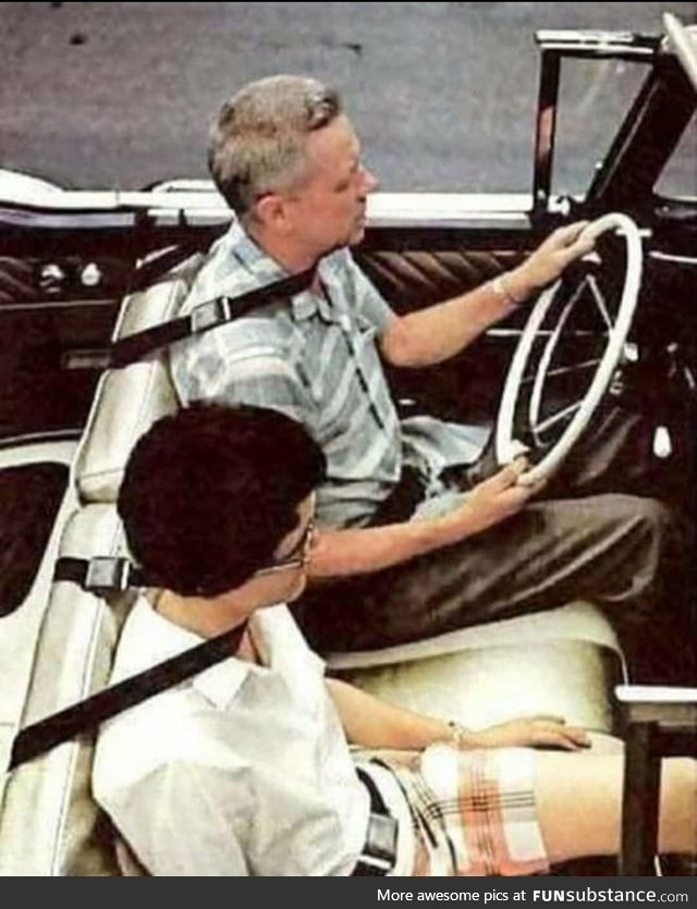A concept design for car safety belts from the 1960s