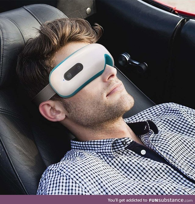 Eye Massager with Heating,Vibration, Music and Air Pressure for Eye Fatigue