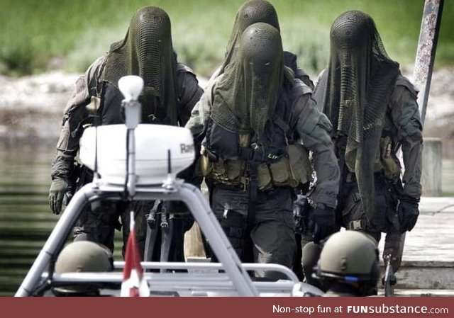 Danish special forces (frogmen) looks scary af