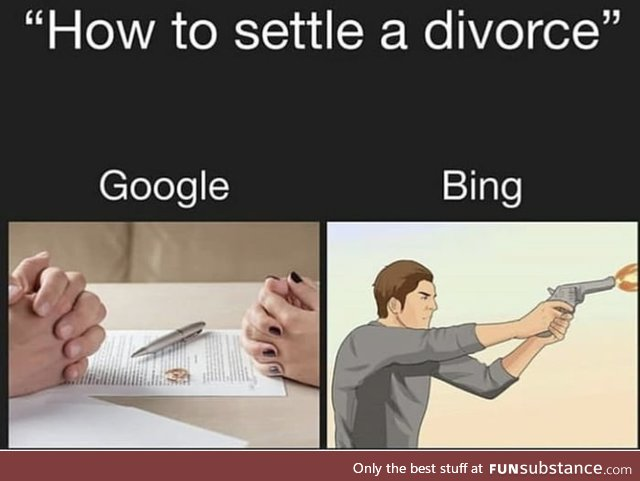 Bing has the easy way out