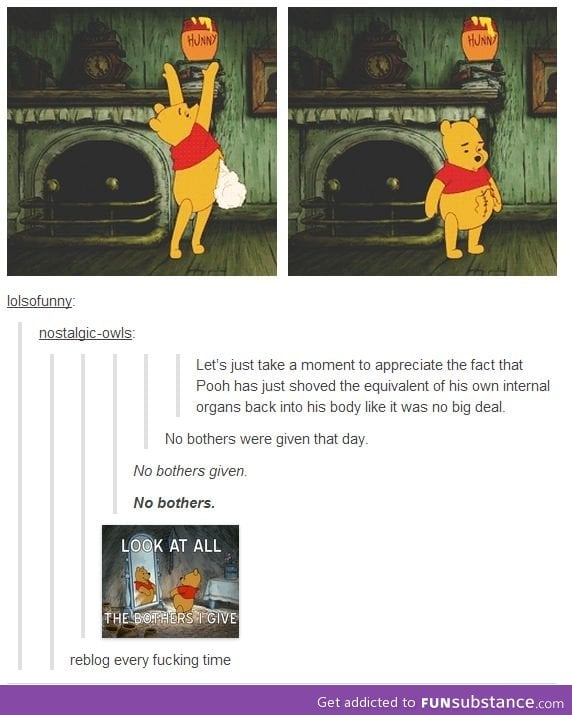 Pooh doesn't give a bother