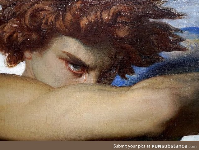 Emotions in art: Fallen Angel (detail) by French painter Alexandre Cabanel, 1847