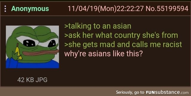 Anon is a racist