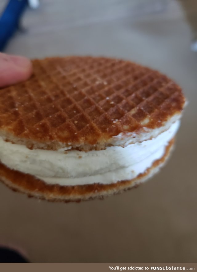 Stroopwafel ice cream sandwiches