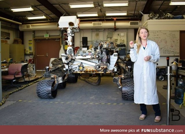 The Size of the Mars Rover. Human for scale